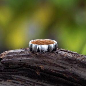 Cobalt wedding ring with engraving