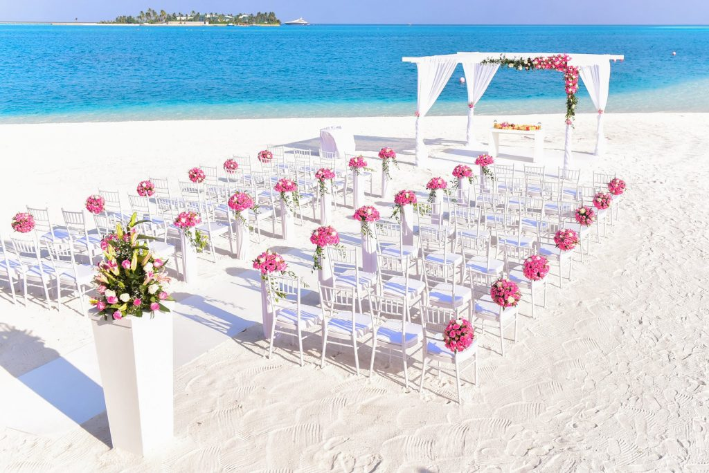 Beach wedding setup venue