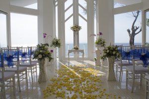 Beautiful sea view wedding venue