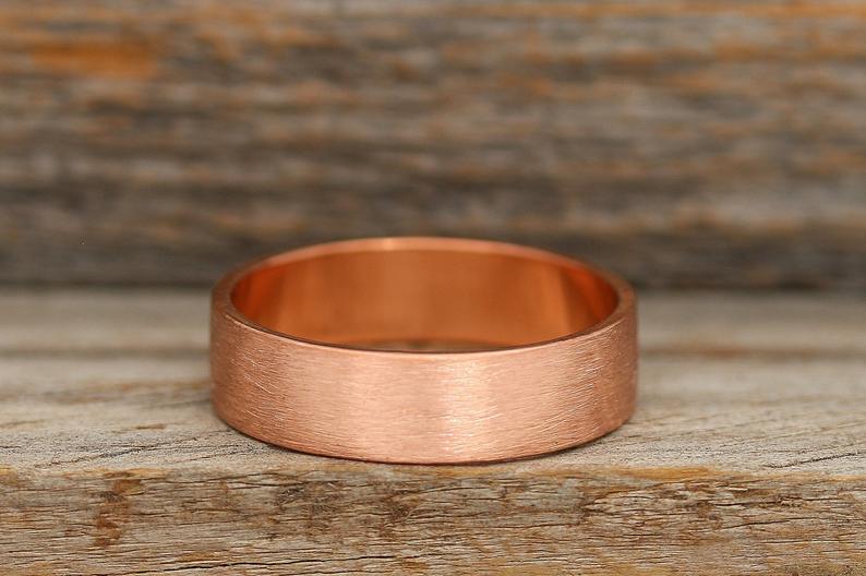 Men's copper wedding band