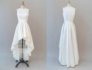 high and low wedding dress