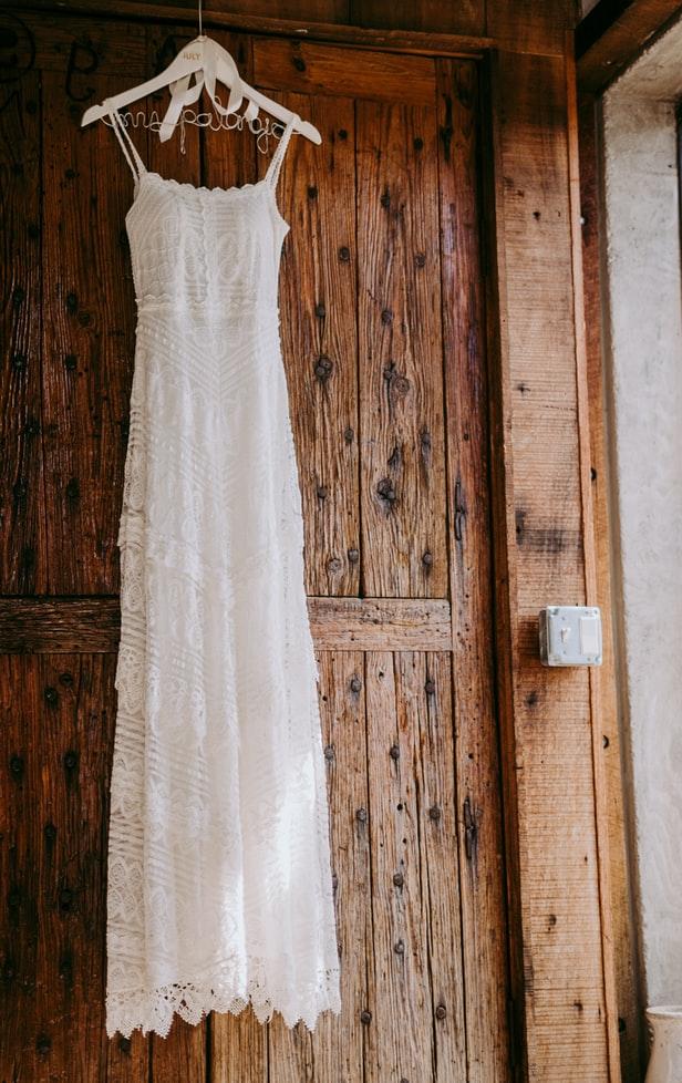 Sheath dress hanging