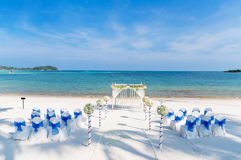 Wedding venue by the ocean