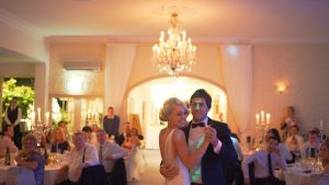 Couple dancing on their wedding day