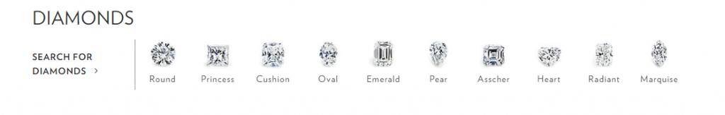 10 popular diamond shapes