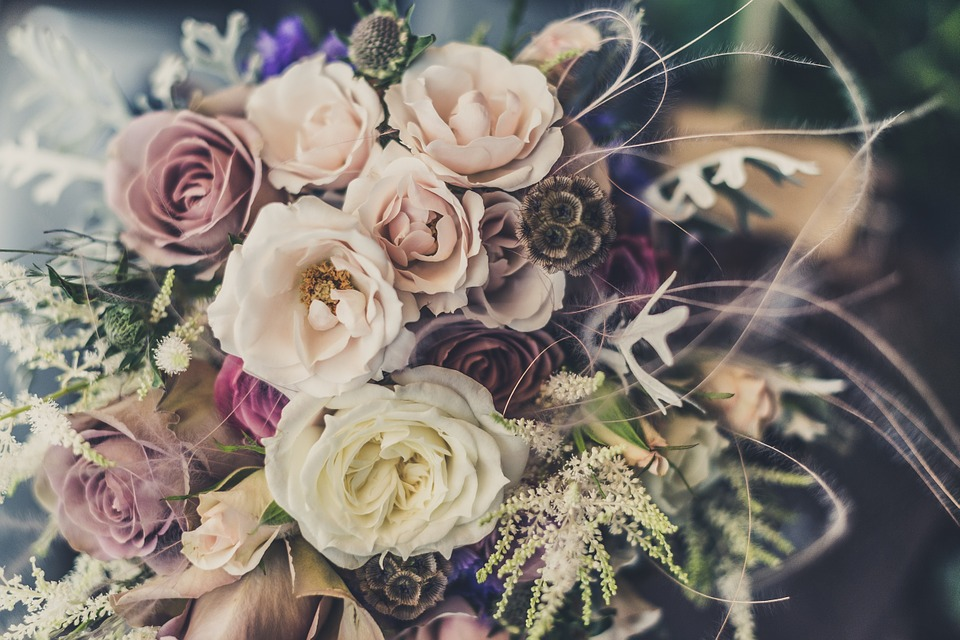 A bunch of flowers for wedding day
