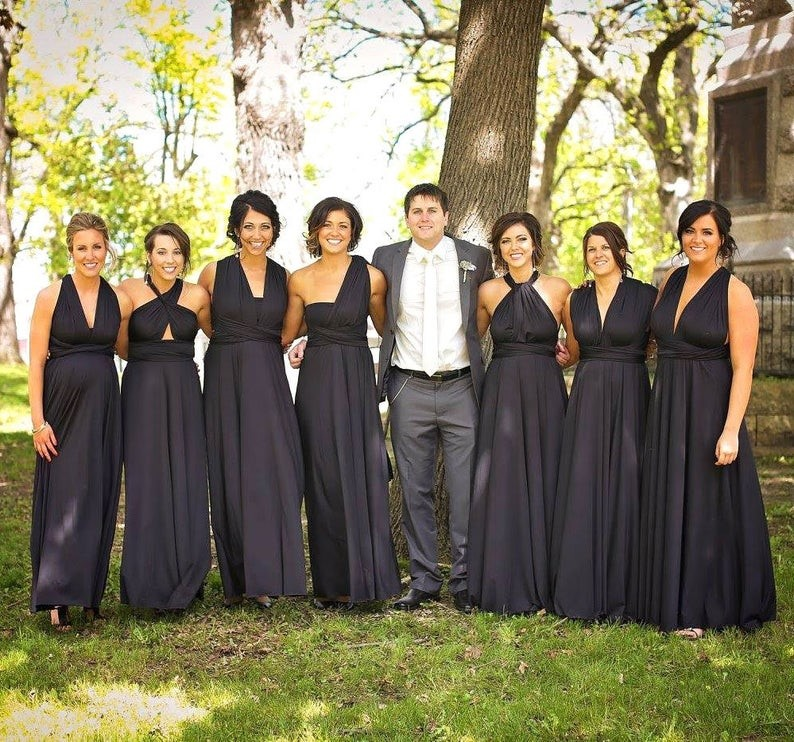 Black Bridesmaids' Dresses