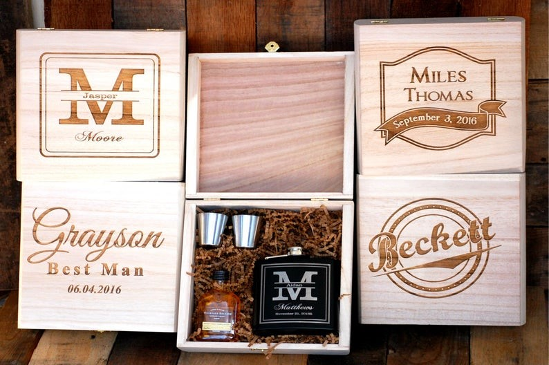 Wooden Groomsmen Gift Box