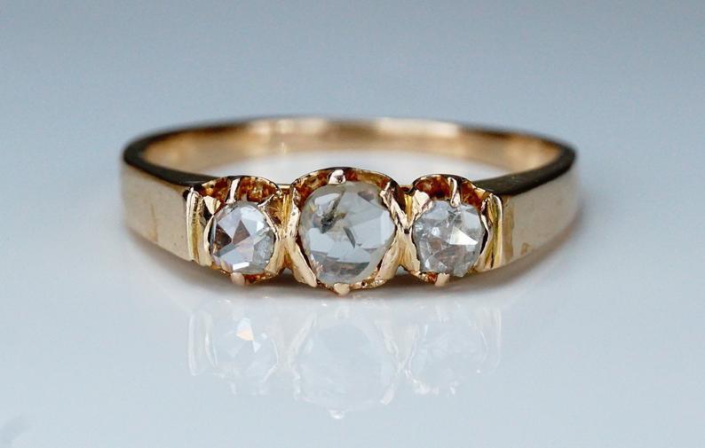 Antique rose cut ring