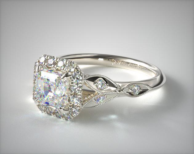 Asscher diamond ring