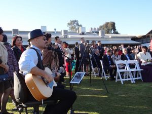 Man playing guitar in a wedding live music