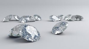 Round diamonds on gray background