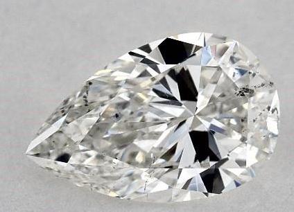 Pear shape diamond close up