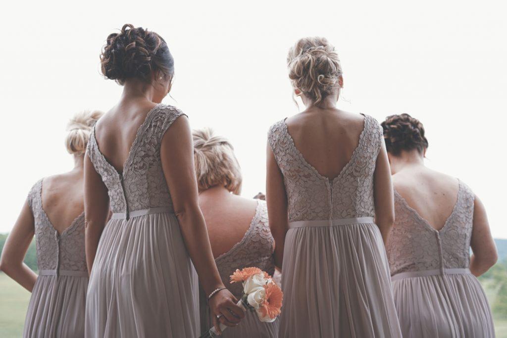 Bridesmaids at wedding