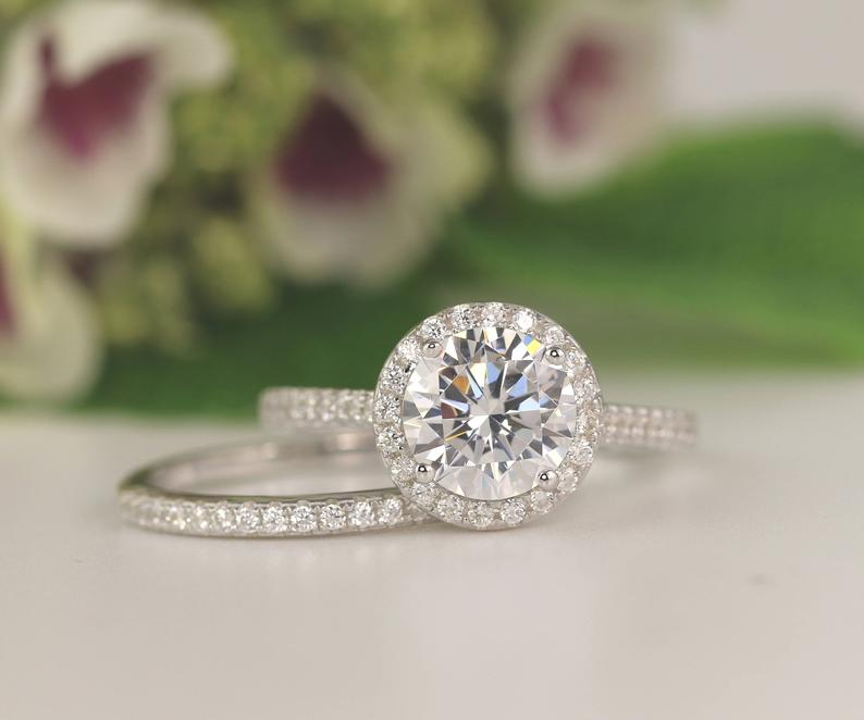Cubic zirconia and wedding band rings