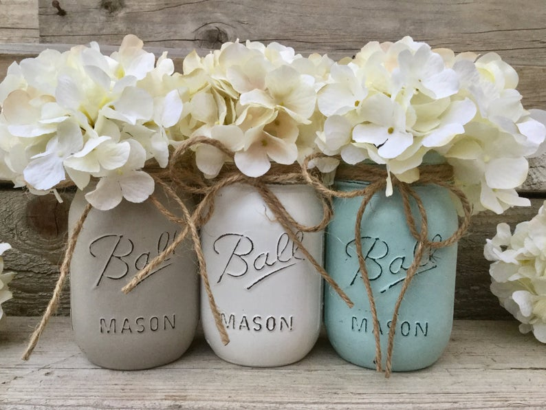 Distressed mason jar