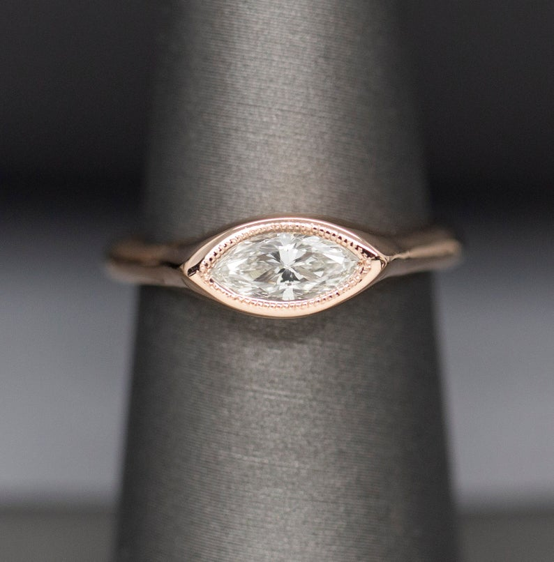 east-west marquise cut ring