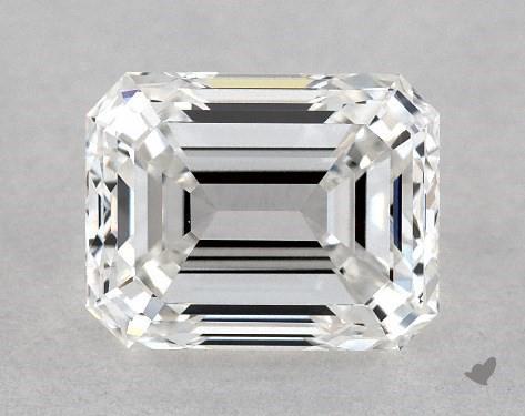 Real emerald cut diamond close up