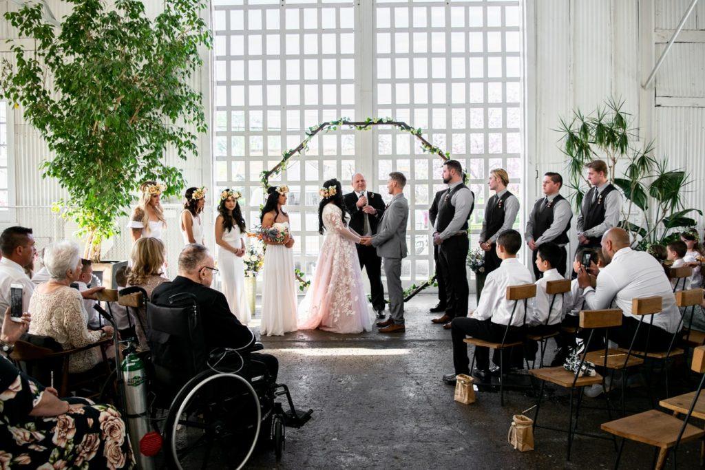Giving away the bride