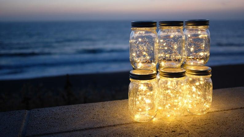 Light up mason jars