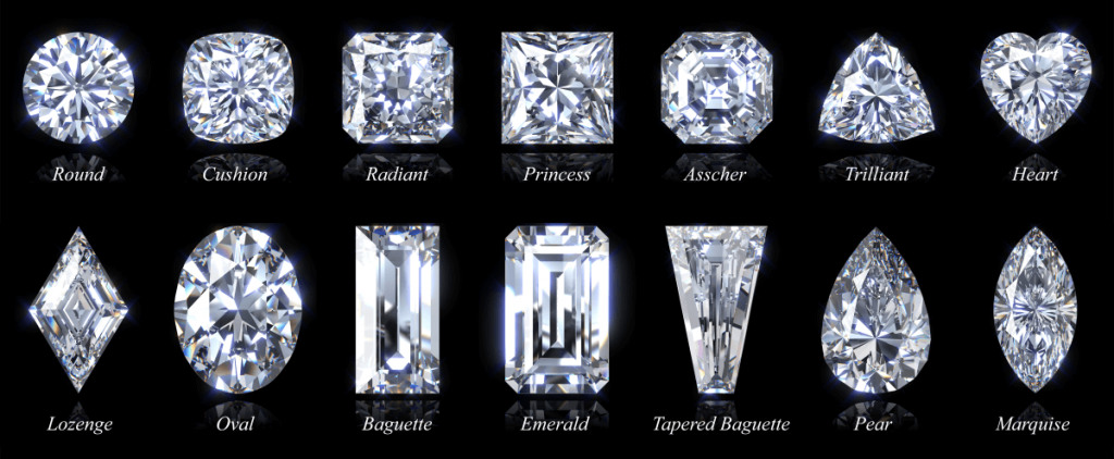 Complete list of diamond shapes and names side by side