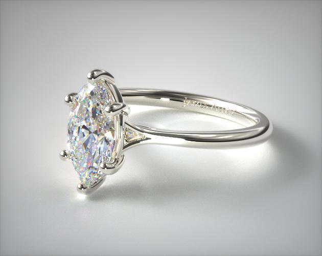 Marquise cut solitaire engagement ring