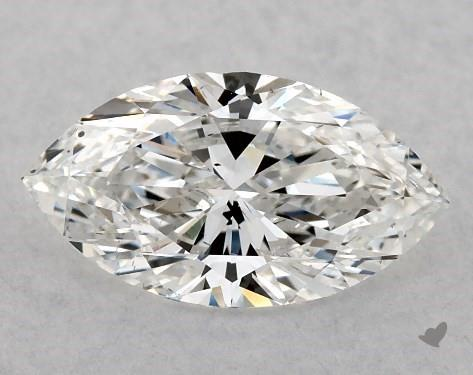 Marquise cut diamond close up