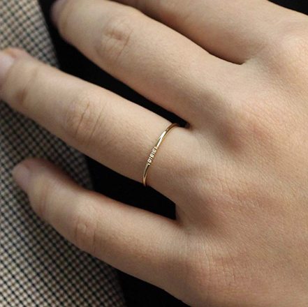 Minimalist thin wedding ring