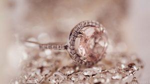 Beautiful morganite engagement ring