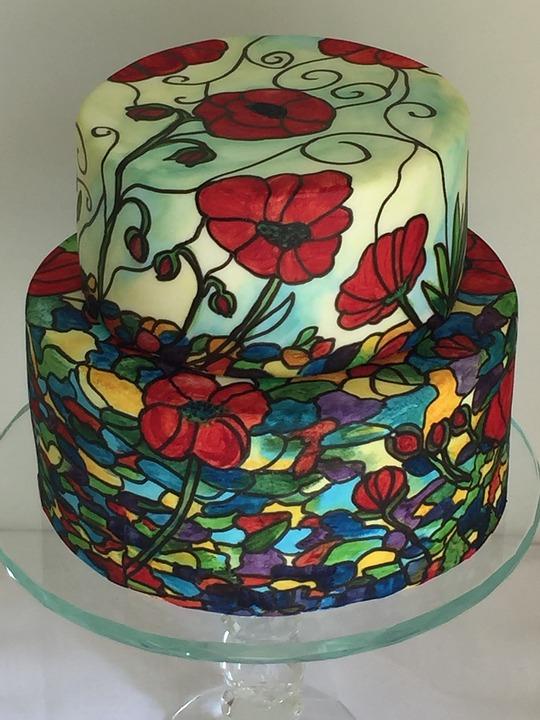 painted-wedding-cake