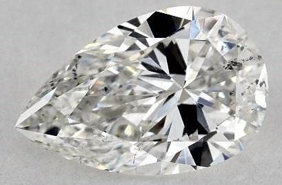 Bow tie on pear shape diamond