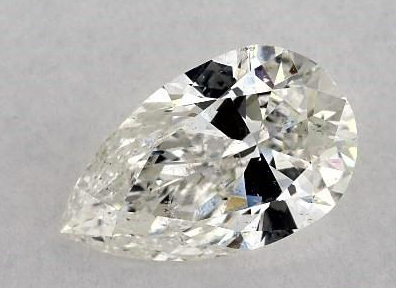 poorly cut pear-shape diamond