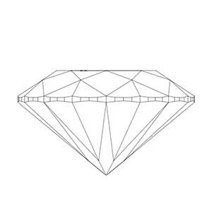 Round cut diamond side view