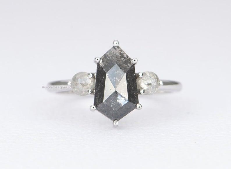 Rustic rose cut diamond ring