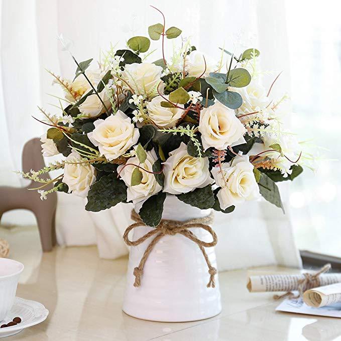 silk flower rose bouquet