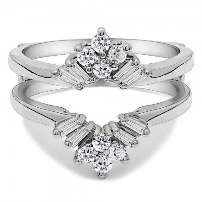 sunburst wedding ring guard