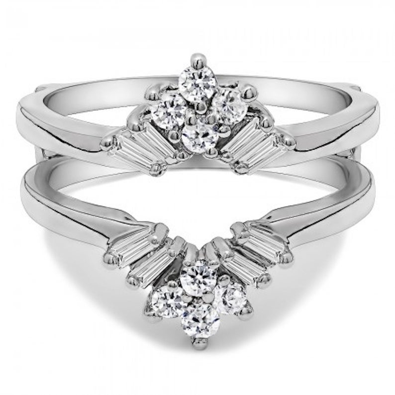 sunburst wedding ring guard