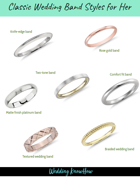 Classic wedding rings for her