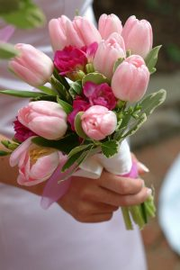wedding tulips bouquet