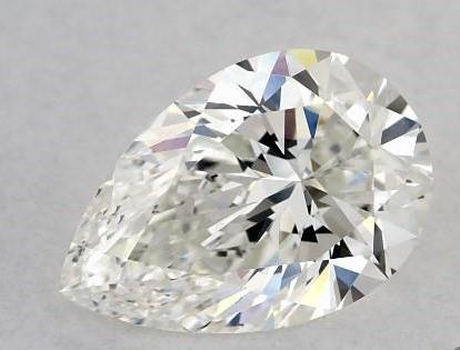 Well cut pear shape diamond