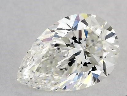 Well cut pear shape diamond