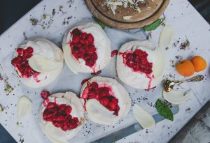 White chocolate raspberry combination