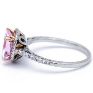White gold morganite ring