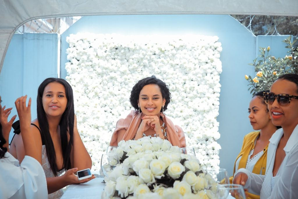 Bride in a meeting with her wedding planner