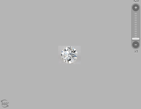 Round shape diamond with 1 times magnification