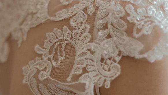 Alencon lace closeup