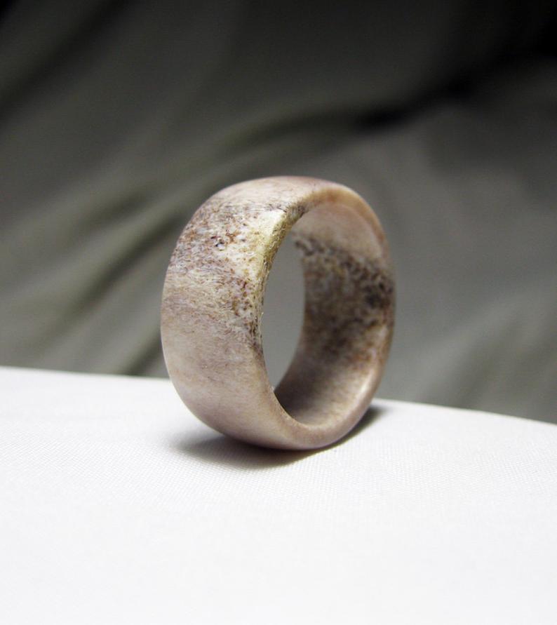 antler wedding ring