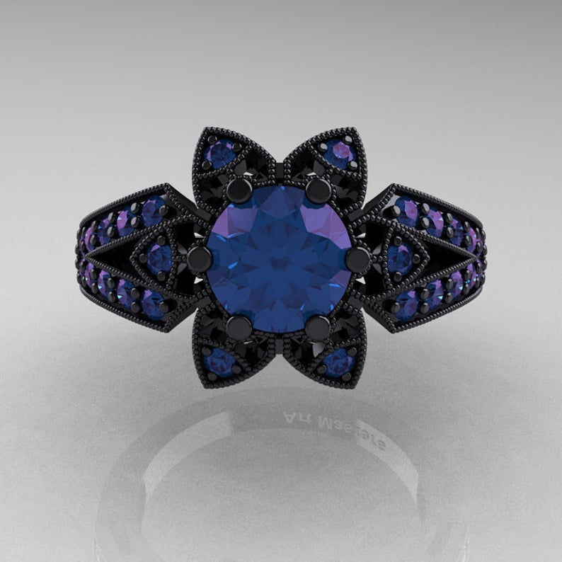 Art deco alexandrite ring