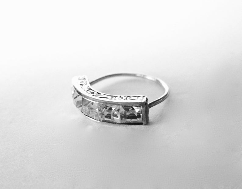 Art deco silver ring