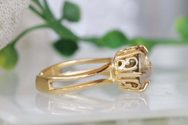Brass engagement ring